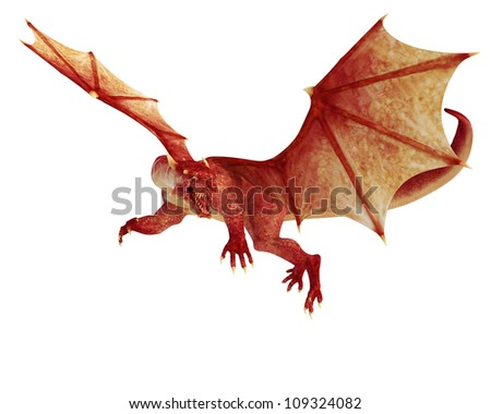 red dragon - stock photo