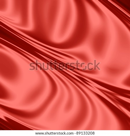 Red drapery texture - stock photo