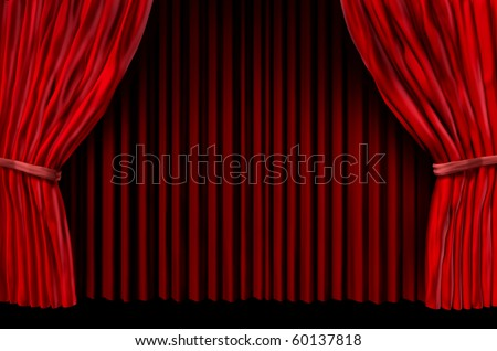 red drapes curtain stage velvet theater