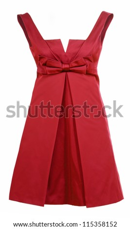 red dress - stock photo