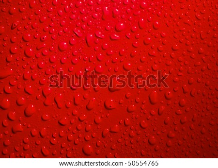 red drops abstract background - stock photo