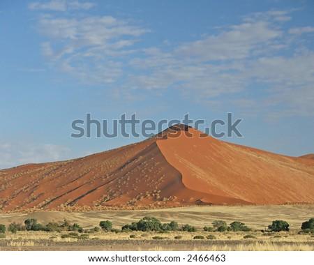 Red Dune at Sossusvlei - stock photo