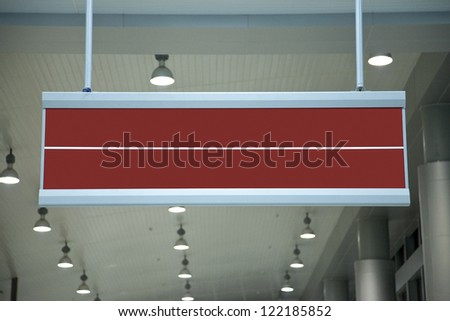 red empty sign on terminal. - stock photo