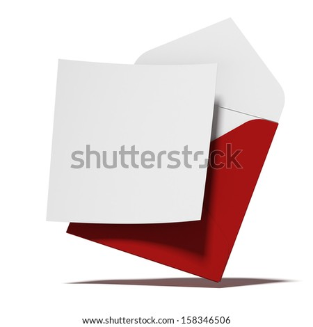 Red envelope with card