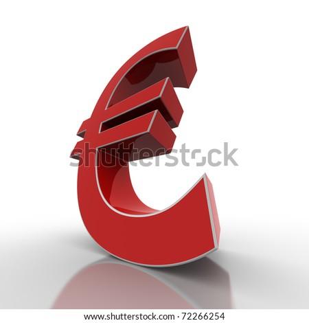 red euro - stock photo
