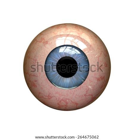 red eyeball - stock photo