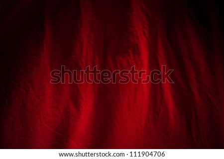 red fabric backgroung - stock photo