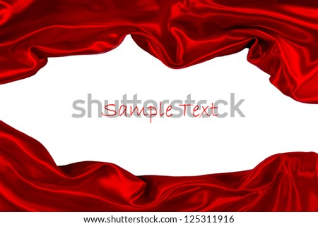 red fabric isolated on white - stock photo