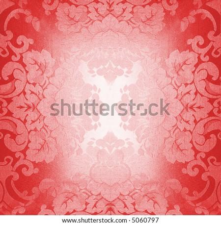 Red fabric pattern - stock photo