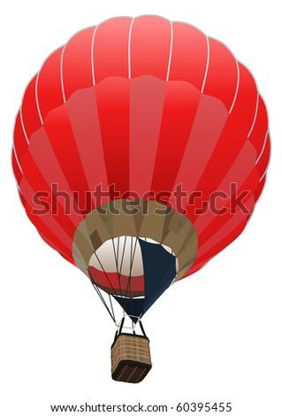 red fancy balloon - stock photo