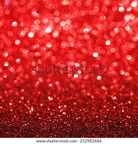 Red festive glitter background with defocused lights - stock photo