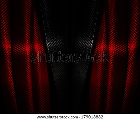 Red Fiber Carbon Wrap Foil Sticker Background - stock photo