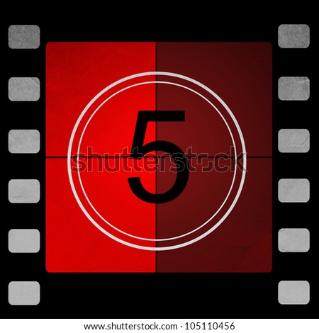 red Film countdown 5