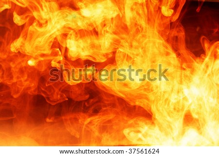 red fire abstract background with swirling effect good for backgrounds and abstract art based illustrations - stock photo