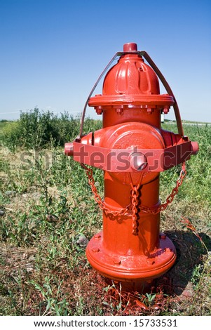 Red Fire Hydrant - stock photo