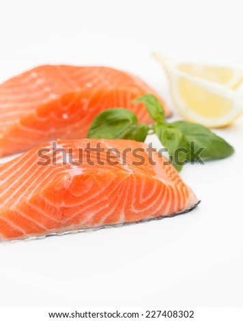 Red fish on white background - stock photo