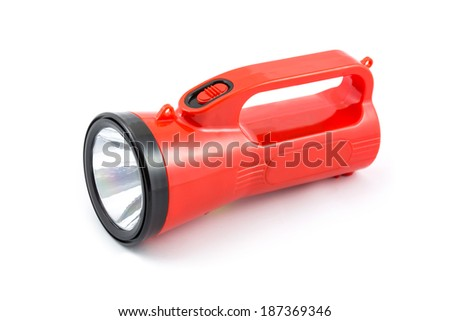 Red Flash Light isolated on white background - stock photo