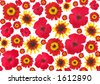 Red flower background - high resolution, offset - stock photo