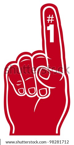 red foam finger - stock photo