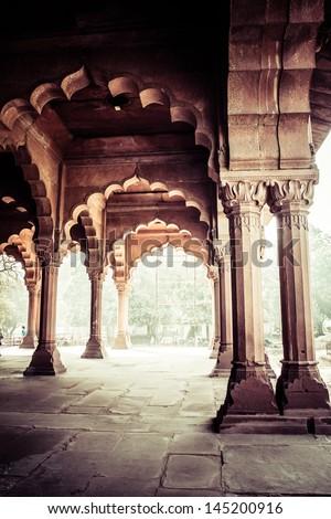 Red Fort (Lal Qila) Delhi - World Heritage Site. Delhi, India - stock photo