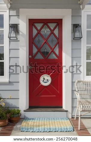 Red Front Door Ornate Diamond Cross Stock Photo Edit Now Shutterstock