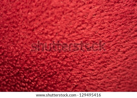 Red fur texture background. - stock photo