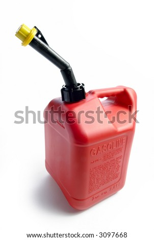 Red Gas Can - stock photo
