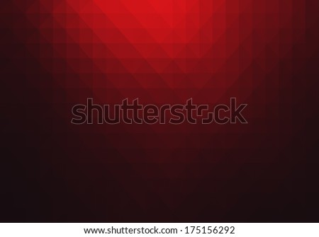 Red geometric abstract background  - stock photo