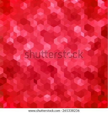 Red geometric background - raster version - stock photo