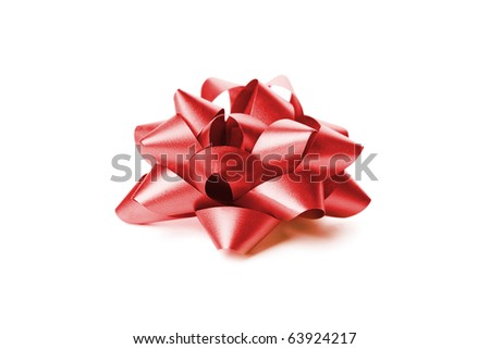 Red gift wrap bow
