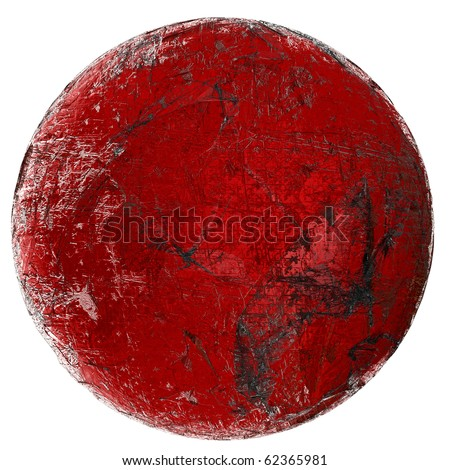 red glass sphere (isolated)