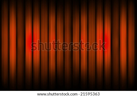 Red glass wall - stock photo