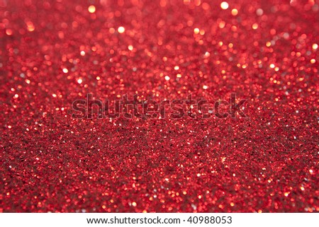 Red Glitter Selective Focus - stock photo