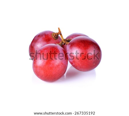 red grape isolated on white background