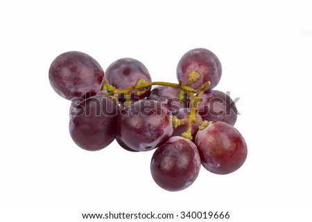 red grape isolated white background - stock photo