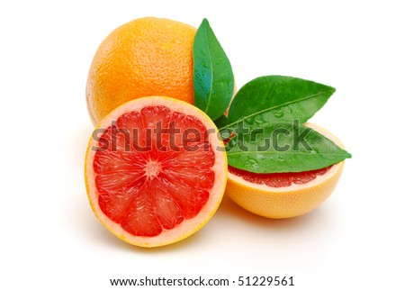 red grapefruit isolated