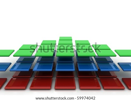 red green and blue squares - RGB
