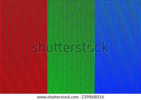 Red, Green, Blue Abstract led screen, TV and Computer screen background - stock photo