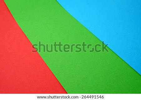 Red, Green, Blue Color Paper (RGB) - stock photo