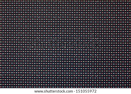 Red Green Blue LED Lights. - stock photo