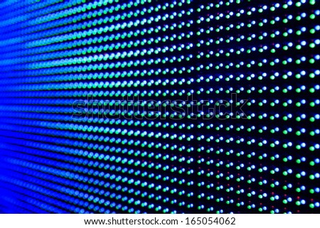 Red Green Blue Light Emitting Diodes .  - stock photo