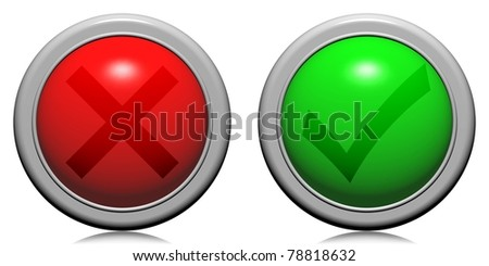 red green buttons