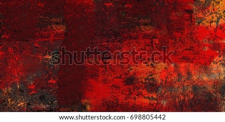 Red Grunge Background Abstract Texture Vintage With Cracks And Patches Of