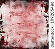 Red grunge background with spots of blood - stock photo
