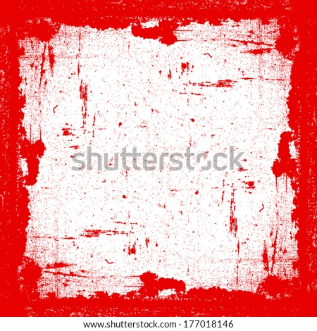 Red Grunge Frame for your design.