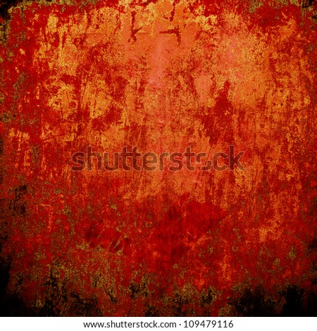 Red grunge texture - stock photo