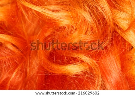 Red hair in a close-up photograph,macro photography
