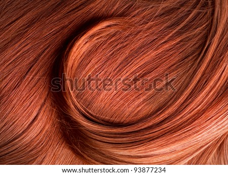 Red Hair Texture - stock photo