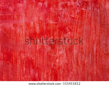 red hand drawn background