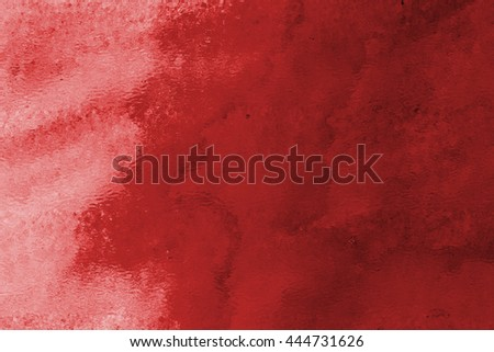Red hand drawn watercolor background for backgrounds or textures